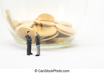 Startup business concept. Businessman handshaking with...