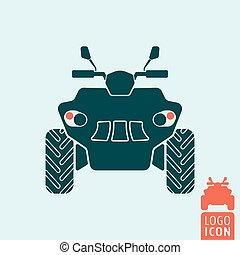 Quad bike icon