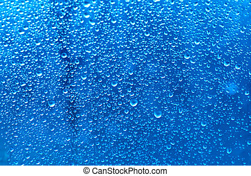 water drops - water bubbles on the window for background