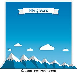 Hiking Event Poster - Vector Poster Template for Hiking or...
