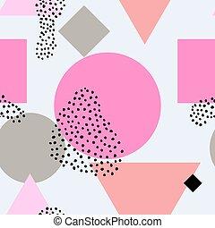 Scandinavian seamless pattern - Boho neon seamless pattern...