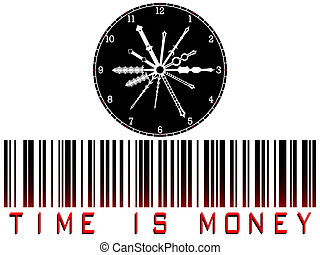 time is money bar code against white background, abstract...