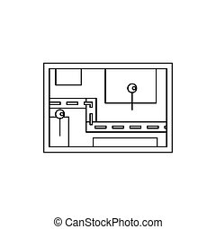 Navigator icon, outline style - Navigator icon in outline...