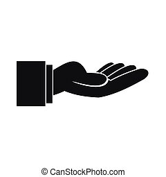 Outstretched hand gesture icon, simple style - Outstretched...