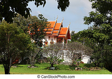 Buddhist temple in forest