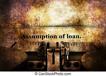 Assumption of loan grunge concept