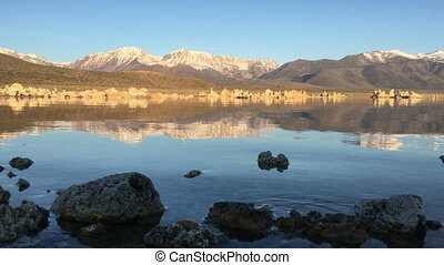 Mono Lake Calm Morning - Mono Lake and Sierra Nevada...