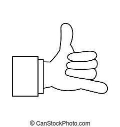 Call me gesture icon, outline style