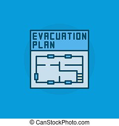 Evacuation plan flat icon