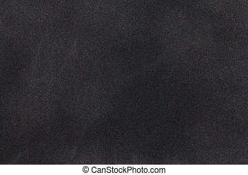 Black suede fabric closeup. Velvet texture. - Black suede...
