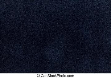 Dark blue suede fabric closeup Velvet texture - Dark blue...