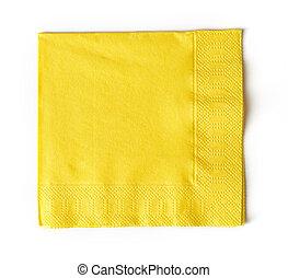 papel, amarela, guardanapo