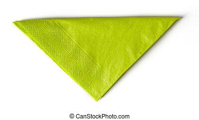 papel, verde, guardanapo