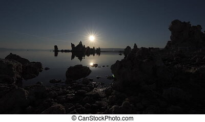 Mono lake at Sunrise Dolly left - Mono Lake Tufa Towers...
