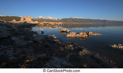 Mono Lake California - Mono Lake Sunrise Tracking Dolly Shot...