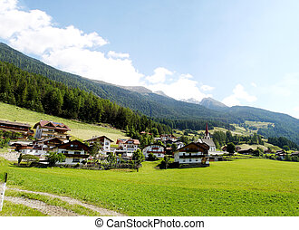 Mountain village in South Tyrol