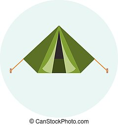 Vector military tent