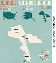Haines Borough - Large and detailed infographic of the...