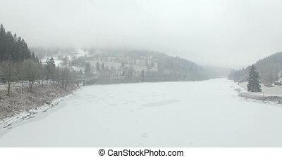 Storage lake of Spindler Mill - Aerial: Storage lake of...