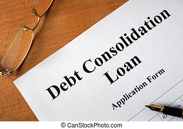Debt consolidation loan form