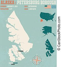 Petersburg Borough - Large and detailed infographic of the...