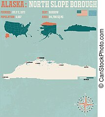 North Slope Borough - Large and detailed infographic of the...