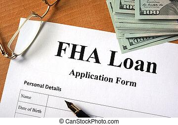 FHA loan form