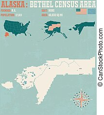 Bethel Census Area - Large and detailed infographic of the...