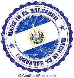 El Salvador - Made in El Salvador grunge rubber stamp with...