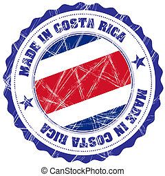 Costa Rica - Made in Costa Rica grunge rubber stamp with...