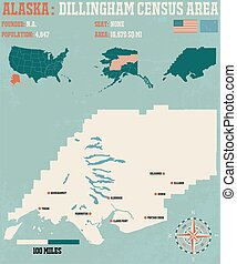 Dillingham Census Area - Large and detailed infographic of...