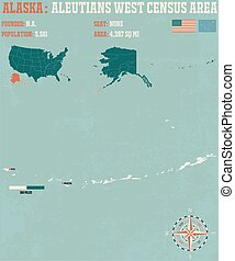 Aleutians West Census Area - Large and detailed infographic...