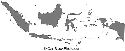 Map - Indonesia - Map of Indonesia as a dark area