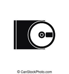 DVD drive open icon, simple style - DVD drive open icon in...
