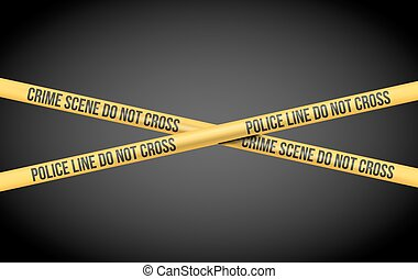 Police Line Tape - Vector illustration with Police Line Do...