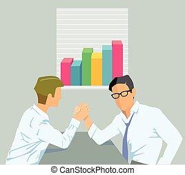 Erfolgreiche Zusammenarbeiteps - Successful teamwork