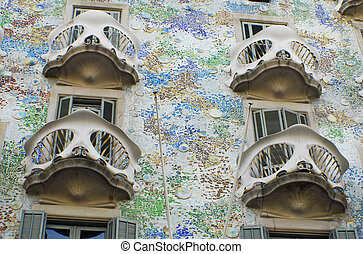 Casa Batllo by Antoni Gaudi in Barselona