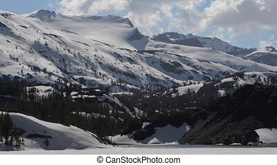 Ellery Lake near Tioga Pass California USA steady shot -...