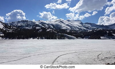 Ellery Lake near Tioga Pass California USA Time-lapse -...