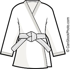 Martial arts kimono jacket - Vector illustration of martial...