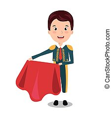 bullfighter character isolated icon design, vector...