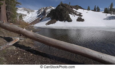 Ellery Lake near Tioga Pass California USA - Sunny Winter...