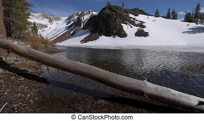 Ellery Lake near Tioga Pass California USA tracking up -...