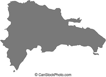 Map - Dominican Republic - Map of Dominican Republic as a...