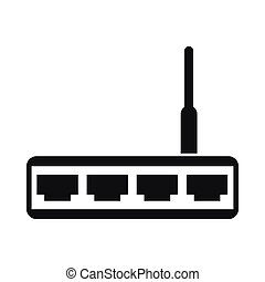 Router icon, simple style - Router icon in simple style...