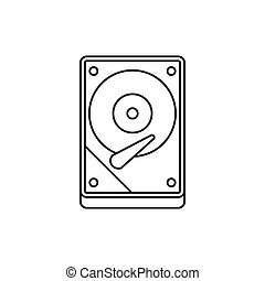HDD icon icon, outline style - HDD icon in outline style...