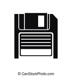 Magnetic diskette icon, simple style - Magnetic diskette...