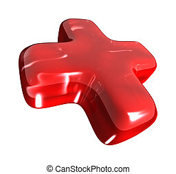 red cross - An image of a nice red 3D cross