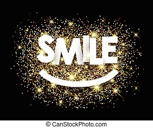 Smile paper background - Smile paper background with shining...