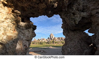 Calcium Spires at Mono Lake dolly shot - Camera Tracking...